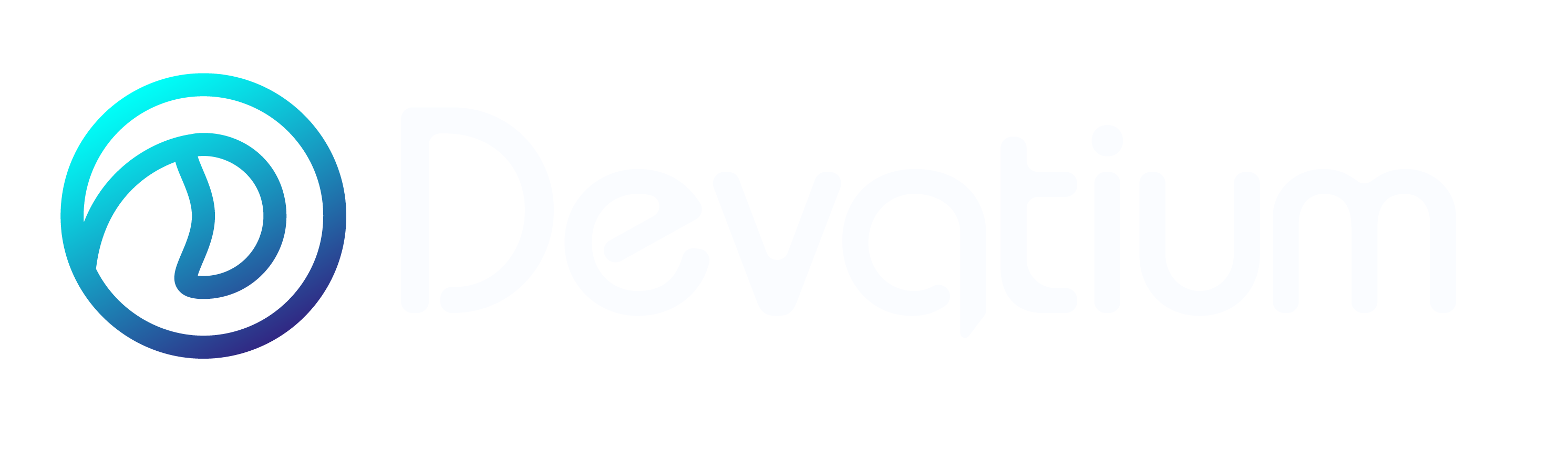Devatium Logo - white version, devatium.com