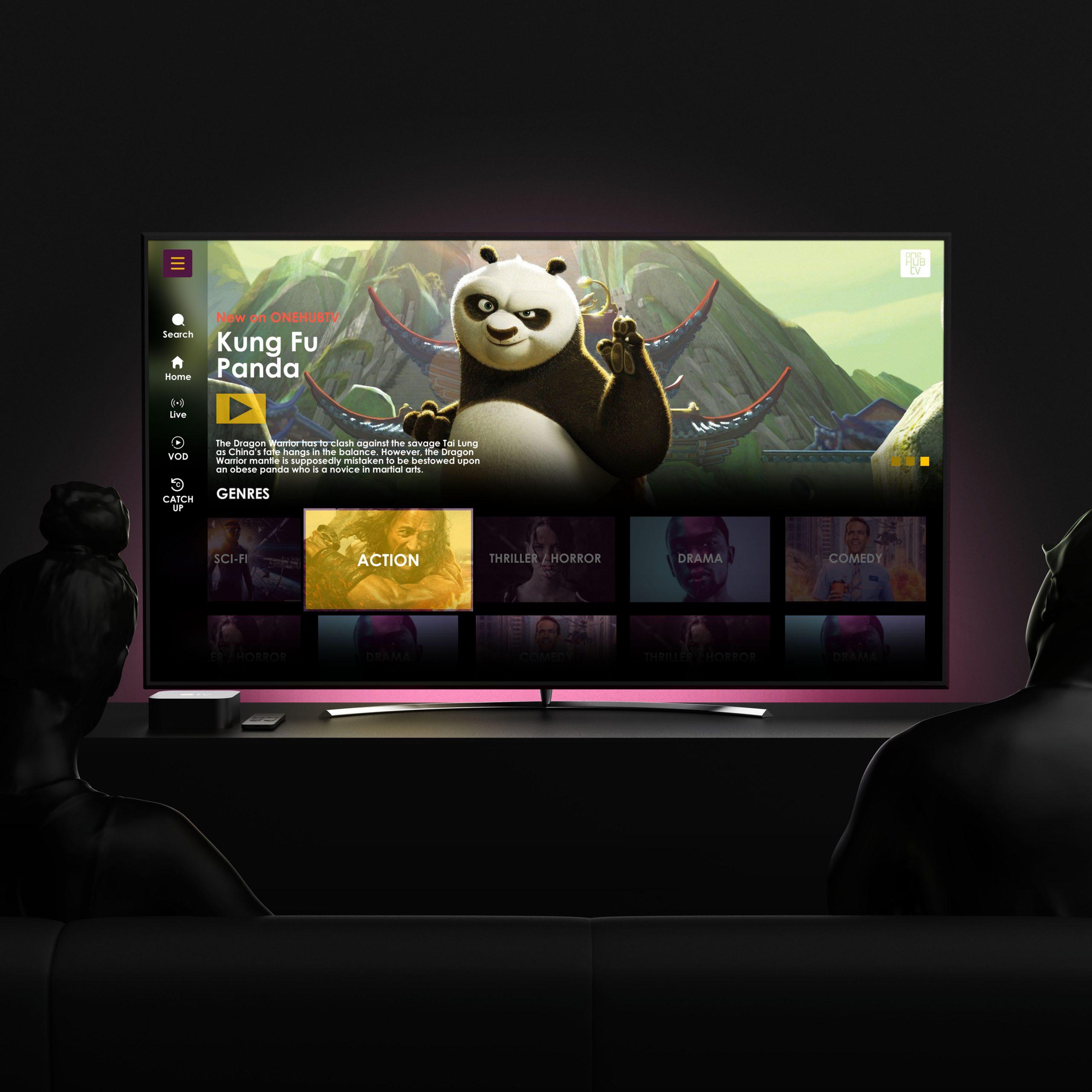 ONEHUBTV UI/UX Design by Devatium.com