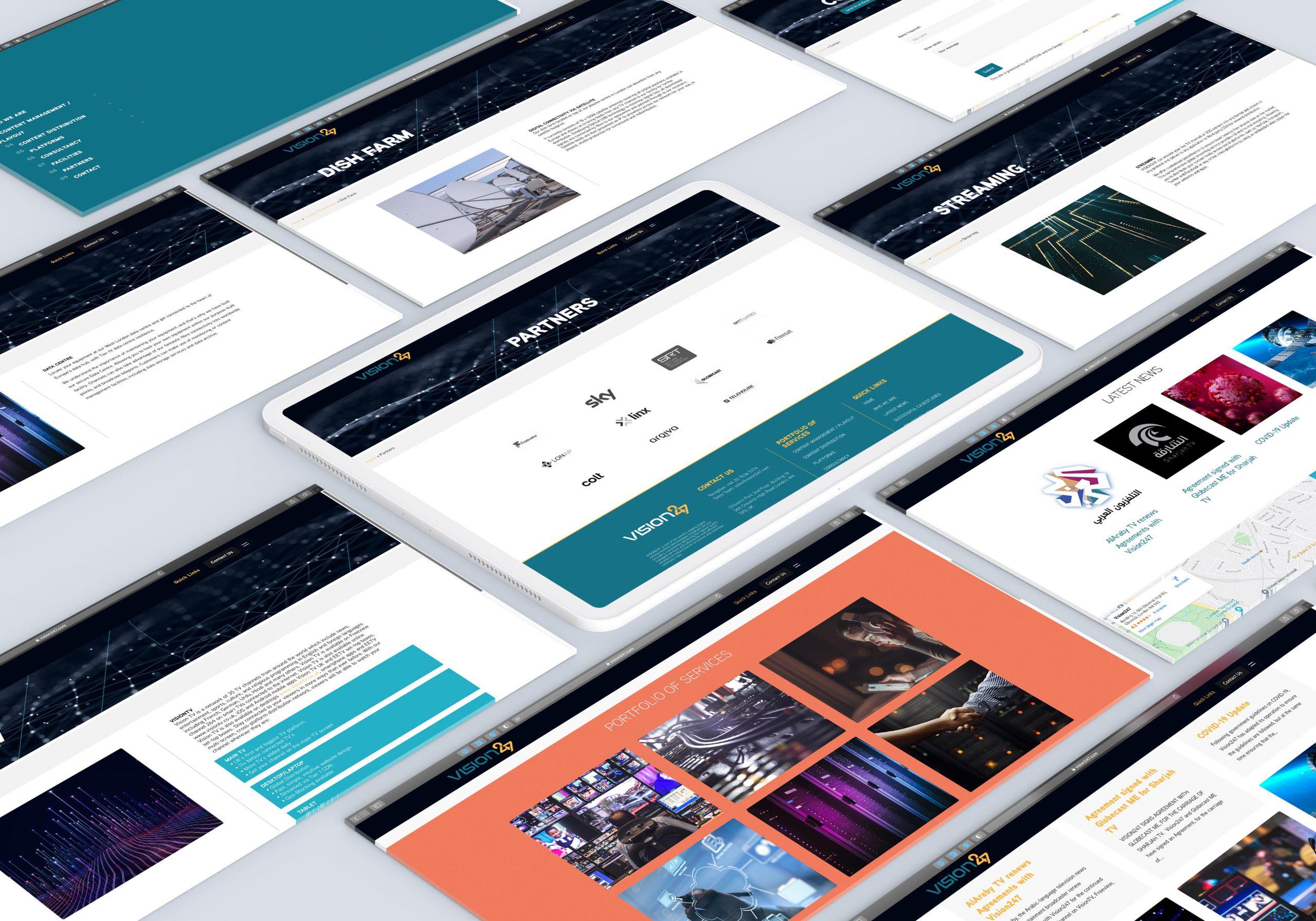 Vision247 website designed and developed by Devatium.com